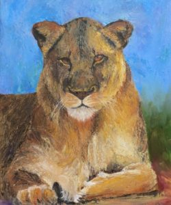 """""""The Lioness"""". Elizabeth Wood. South Africa"""
